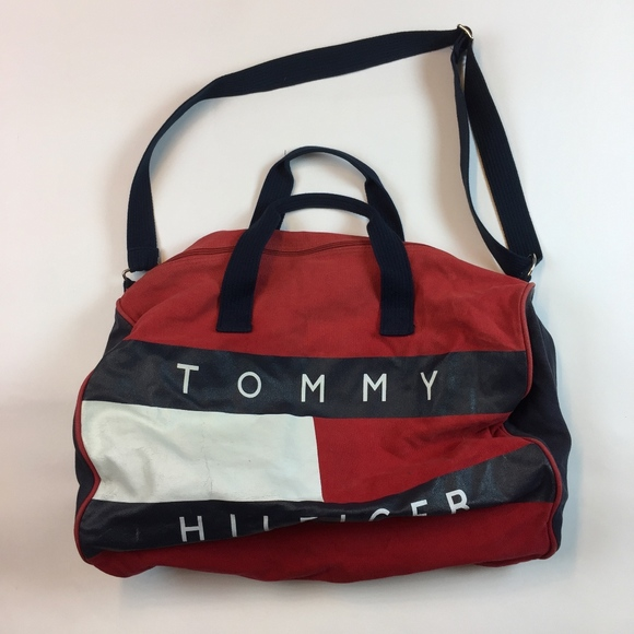 9d9bc1ebba Tommy Hilfiger Bags   Vintage Duffle Bag Spellout L5   Poshmark